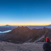 Sunrise at the top of Mt. St. Helens