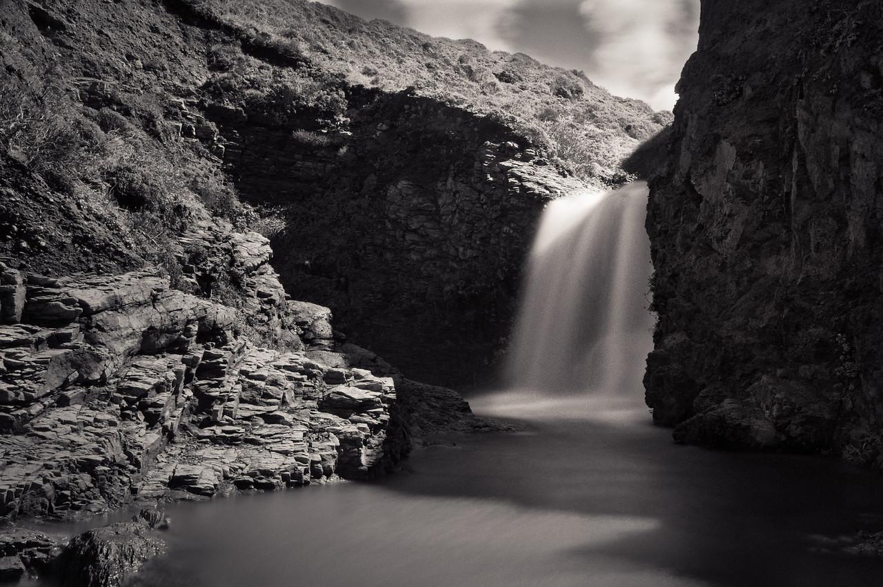 Upper Alamere Falls, above the brink.