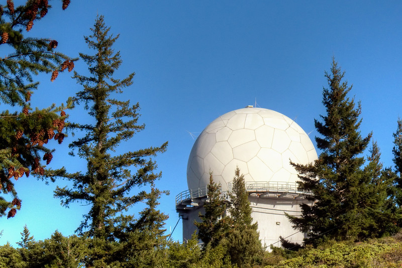 Now an FAA radar facility, this radome was originally built to be a SAGE (Semi Automatic Ground Environment) search radar as part of the Nike/Hercules missile system.