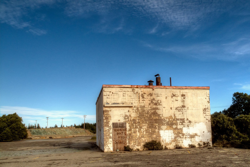 Ruins of the old Air Force Base on top of Middle Peak
