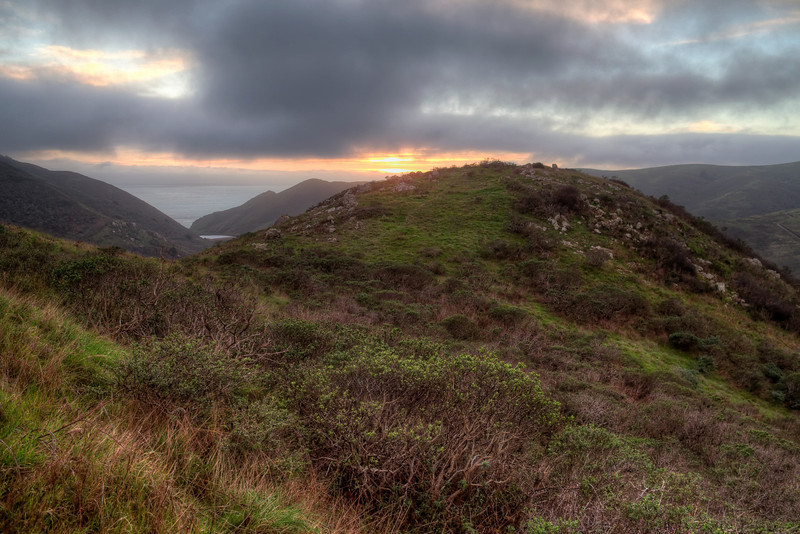 Tennessee Valley Old Springs Trail winter sunset.