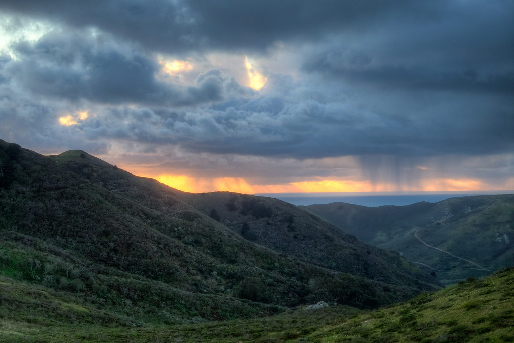 Storm Passing through Tennessee Valley, Marin Headlands.