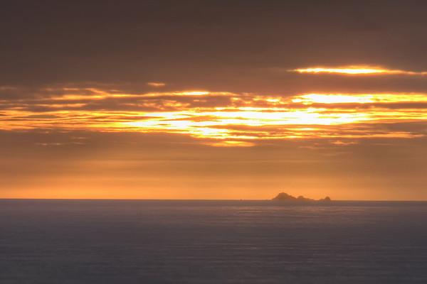 Sunset behind the Farallon Islands