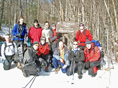 On January 12, twelve GO members took advantage of the great weather and headed up to Waterville Valley, NH to hike up Mt. Tecumseh (4003').