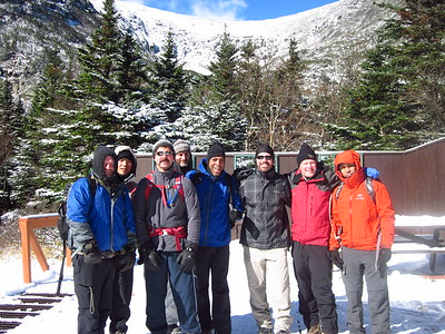 The GO Crew with Tuckerman Ravine above us