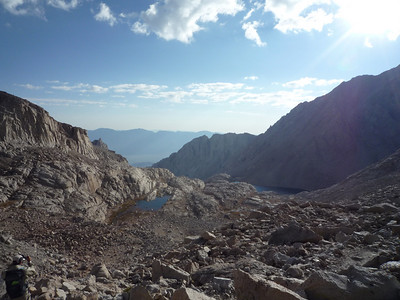 That lake at 12,000 ft. is on the right side
