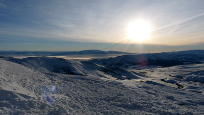 The Elba/Almo valley and highway below.