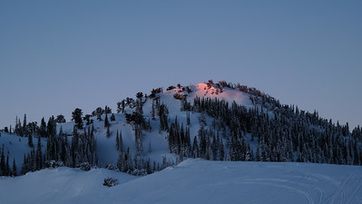 The east shoulder of Mt. Harrison catches a bit of the rising sun.