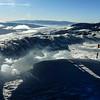 The overlook is an ice sculpture. The Almo-Elba highway lies beyond and below.