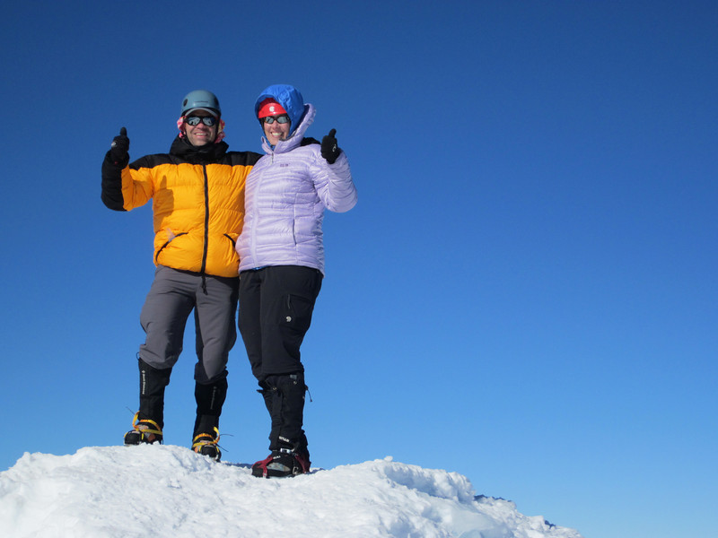 Lauren and I on the summit, all smiles!