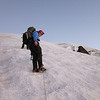Almost to the top of the Mazama Glacier and still in a good mood!