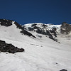 Looking up at the Klickitat Glacier during snow school.