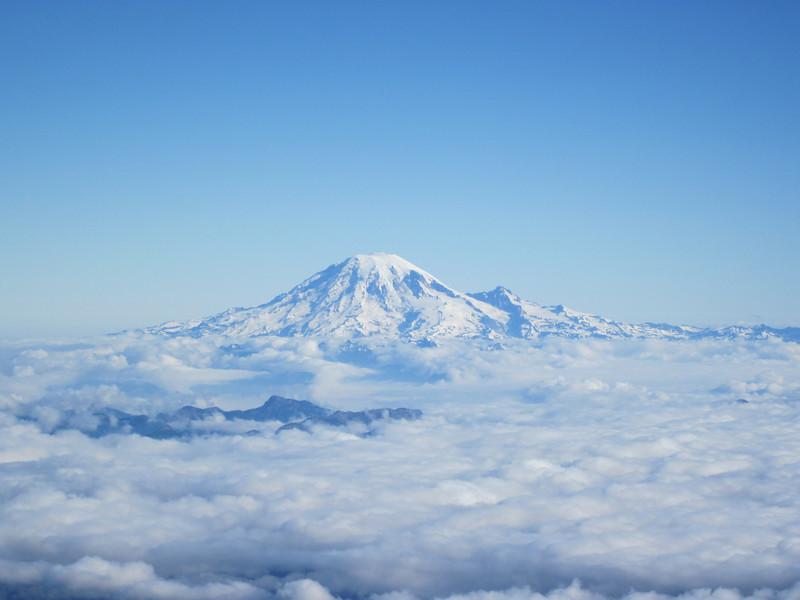 Close up of Mt. Rainier.