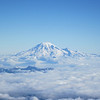 Close up of Mt. Rainier.