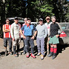 A clean and happy group. Soon to be dirty and tired:-) Guide Alex, Bob, Lauren, Guide Doug, Jeff (me), Guide Nick and Anne.