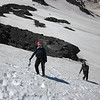 Lauren and Doug hanging out on the Klickitat Glacier during snow school.