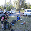 Gear check before we start the climb.