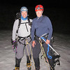 Jeff and Lauren prepare to start the climb. It's much warmer than usual; we are not even wearing coats or long underwear.