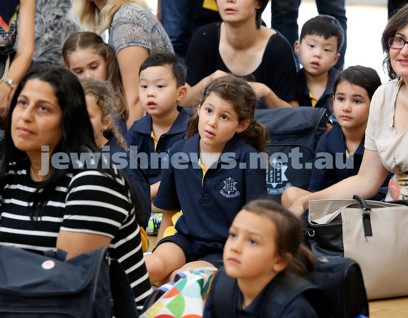 Mt.Sinai School Year K students arrive for their first day at school.  Pic Noel Kessel.