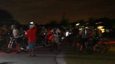 Lining up for the night ride.