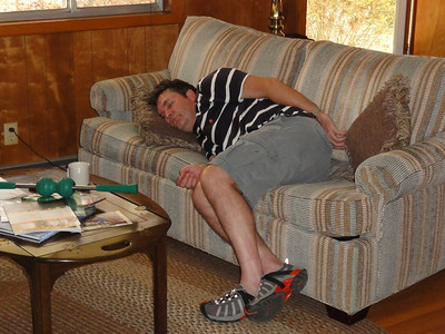 """Paul takes a """"Cat Nap"""" before being rudely awakened with an orange thrown"""