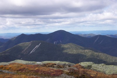 Colden in foreground with Algonquin in background from summit of Marcy