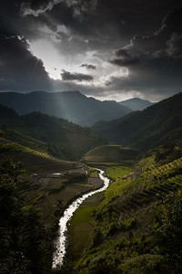 A Brooding Sunset, Mu Cang Chai, North Vietnam