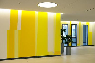 Farbwand Erdgeschoss Westteil. Foto: Burghard Müller-Dannhausen