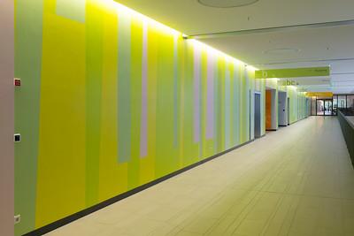 Farbwand Obergeschoss Mitte. Foto: Burghard Müller-Dannhausen