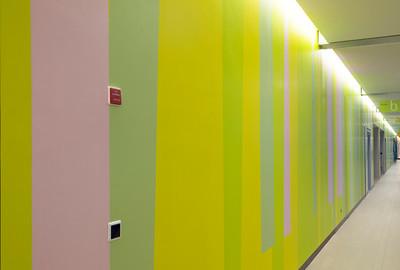 Farbwand Obergeschoss mittlerer Bereich. Foto: Burghard Müller-Dannhausen