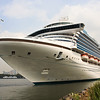 Caribbean Princess at the Red Hook Cruise Terminal in Brooklyn, New York