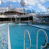 One of the five pools on the ship
