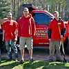 Andrew Muir(middle) and his work crew, L-R, Nevin Beaudry, Nicholi Balakin, Andrew Muir(owner), Conner Richards and Zack Cook. SUN/ David H. Brow