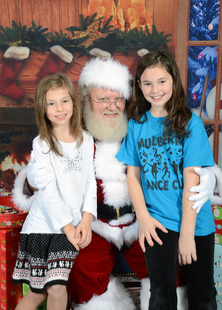 Mulbery Pics with Santa 2013