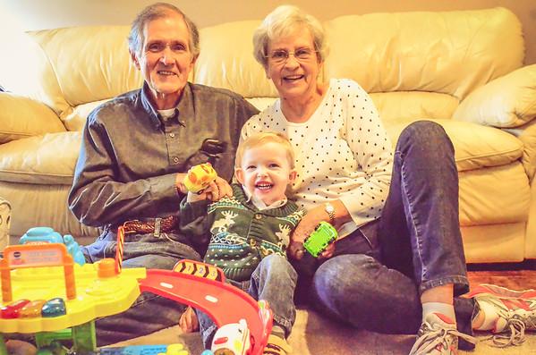 Luke & Grandparents 2015