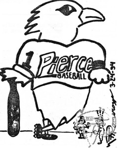 "WEAPONa cartoon:based on the ""sports scene"" on campus.  The Pierce Arrow MARCH 1994"