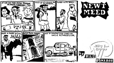 "NEWT MEEDa comic strip:based on the ""actual"" eventsat a family reunion.  The Pierce Arrow OCTOBER 1994"