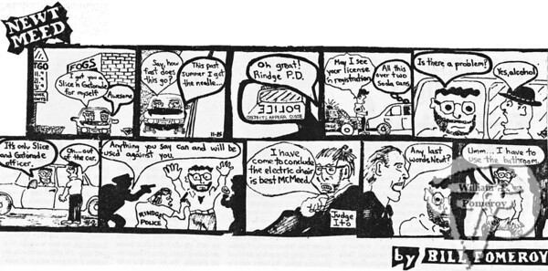"NEWT MEEDa comic strip:based on a ""real"" life ordealwith the law.  The Pierce Arrow NOVEMBER 1994"