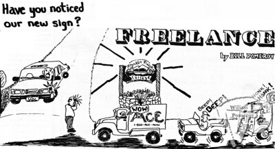 "FREELANCEa cartoon:based on the ""current events"" on campus.  The Pierce Arrow SEPTEMBER 1994"