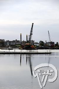 Dredging equipment stands ready at Allen Harbor.  COMMUNITY SNAPSHOT:  Allen Harbor dredging    WickedLocal.com/CapeCod November 1, 2012COMMUNITY NEWSPAPER COMPANY