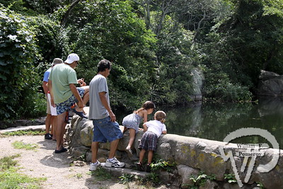 Looking at the Mill Pond dam  at the Stony Brook mill site. Mills & Gills  celebrates Stony Brook Gristmill   5 / 5  WickedLocal.com/CapeCod August 27, 2012COMMUNITY NEWSPAPER COMPANY