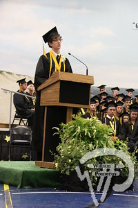 """Salutatorian Gus Reed describes his fellow graduates like fireworks,as they are each """"about to shoot off in different directions,across the country, the world.""""PHOTO GALLERY:  Nauset Regional High School graduation Nauset Regional High School graduated 236 seniors Sunday. 2 / 9 WickedLocal.com/CapeCod June 15, 2010COMMUNITY NEWSPAPER COMPANY"""