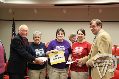 Library Team Crowned Chatham's Spelling Champs In Annual Bee The Eldredge Library Book Bags, Barbara Stevenson, Irene Gilliesand Kate Ferreira, posed with master of ceremonies Richard Sullivanand pronouncer Bill Litchfield after winning the library'ssixth annual spelling bee Sunday.  CapeCodChronicle.com FEBRUARY 24, 2010HYORA PUBLICATIONS INC.