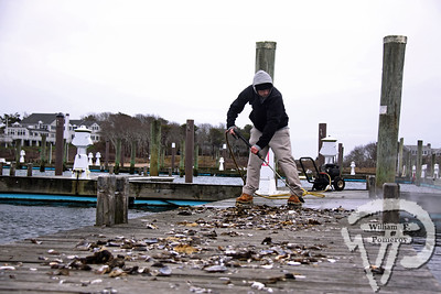 On the waterfront  Publication seeks to grow awareness of coastal issues Assistant Harbor master Paul Fox water pressurizes the docks this past week  while simultaneously removing debris at Saquatucket Harbor.  Harwich Oracle April 17, 2013 front page