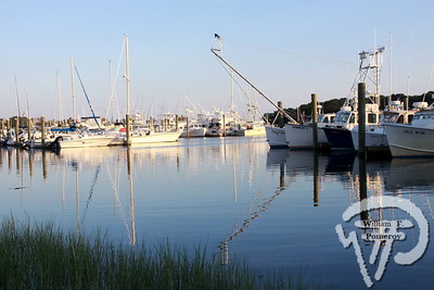 THE FLEET'S IN Twilight approaches  at Allen Harbor.  Harwich Oracle August 7, 2013 front page