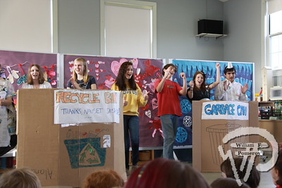 Students learn ABC's  of single-stream recycling An enthusiastic cast performs a self-directed jingleto the younger generation last Friday morning. The Provincetown Banner FEBRUARY 24, 2011page 14