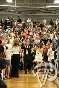 Jake Miller and Madeleine Koboldlead the graduates among a packed Nauset gymnasium. The Provincetown Banner JUNE 17, 2010page 67
