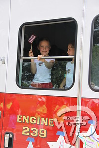 """Bailey Kavanagh, a kindergarten student at Orleans Elementary School, won the parade theme contest with her slogan, """"Celebrate America, A Place of Wonders,"""" and was acknowledged during the parade. The Cape Codder JULY 8, 2011page 19"""