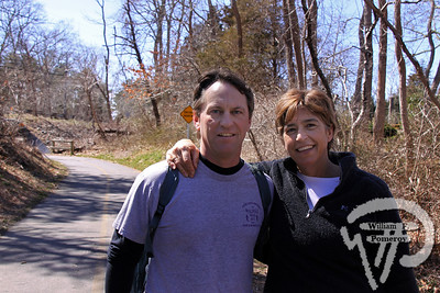 Jeff and Catherine Bloechl  of Walpole, Mass. SEEN ON SCENE:  Along the  Cape Cod Rail Trail Along the Cape Cod Rail Trail mixed with warmer weather  this past Saturday heightened curiosity for some to explore  from Brewster to Wellfleet's town line.   6 — 12  WickedLocal.com/CapeCod April 1, 2013 COMMUNITY NEWSPAPER COMPANY