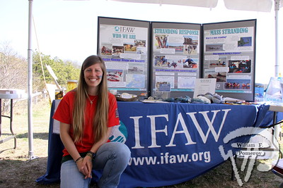 Lindsey Zemler, education and outreach intern at IFAW, Marine Mammal Rescue and Research.